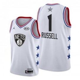 Camiseta D'Angelo Russell #1 Brooklyn Nets 2019 All Star Blanco