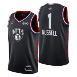Camiseta D'Angelo Russell #1 Brooklyn Nets 2019 All Star Negro