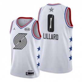 Camiseta Damian Lillard #0 Portland Trailblazers 2019 All Star Blanco