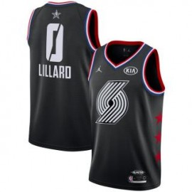 Camiseta Damian Lillard #0 Portland Trailblazers 2019 All Star Negro
