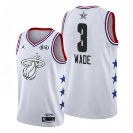 Camiseta Dwyane Wade #3 Miami Heat 2019 All Star Blanco