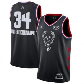 Camiseta Giannis Antetokounmpo #34 Milwaukee Bucks 2019 All Star Negro