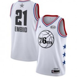 Camiseta Joel Embiid #21 Philadelphia 76ers 2019 All Star Blanco