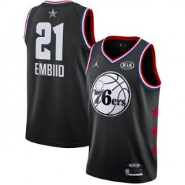 Camiseta Joel Embiid #21 Philadelphia 76ers 2019 All Star Negro