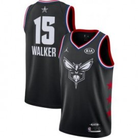 Camiseta Kemba Walker #15 Charlotte Hornets 2019 All Star Negro