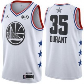 Camiseta Kevin Durant #35 Golden State Warriors 2019 All Star Blanco