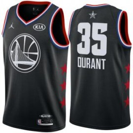 Camiseta Kevin Durant #35 Golden State Warriors 2019 All Star Negro