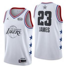 Camiseta LeBron James #23 Los Angeles Lakers 2019 All Star Blanco
