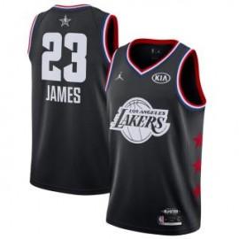 Camiseta LeBron James #23 Los Angeles Lakers 2019 All Star Negro