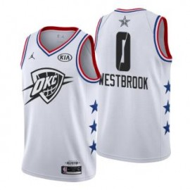 Camiseta Russell Westbrook #0 Oklahoma City Thunder 2019 All Star Blanco