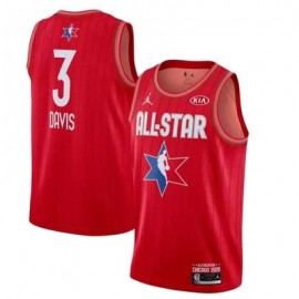 Camiseta Anthony Davis #3 All Star 2020 Rojo