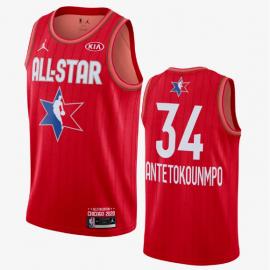 Camiseta Giannis Antetokounmpo #34 All Star 2020 Rojo