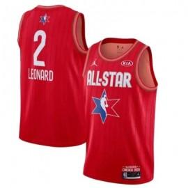 Camiseta Kawhi Leonard #2 All Star 2020 Rojo