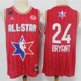 Camiseta Kobe Bryant #24 All Star 2020 Rojo