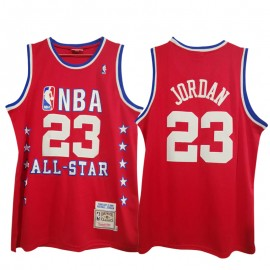 Camiseta Michael Jordan #23 1989 All Star Rojo Mitchell & Ness