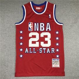 Camiseta Michael Jordan #23 1989 All Star Rojo Mitchell & Ness