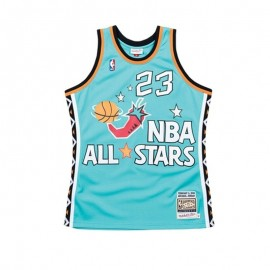 Camiseta Michael Jordan #23 1996 All Star Azul Claro Mitchell & Ness