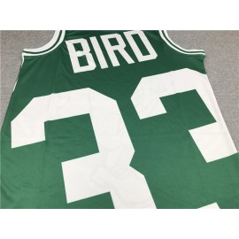 Camiseta Larry Bird #33 Boston Celtics 2020 Verde Estampado Edition