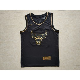 Camiseta Michael Jordan #23 Chicago Bulls 2019 Negro Gold Edition