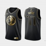 Camiseta Luka Doncic #77 Dallas Mavericks 2019 Negro Gold Edition