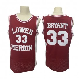 Camiseta Kobe Bryant #33 Lower Merion High School Ncaa Rojo