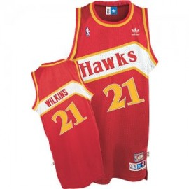 Camiseta Dominique Wilkins #21 Atlanta Hawks 1986/87 Rojo Classic Edition