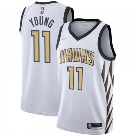 Camiseta Trae Young #11 Atlanta Hawks 18/19 Blanco City Edition