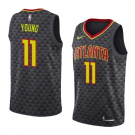 Camiseta Trae Young #11 Atlanta Hawks 18/19 Negro Icon Edition