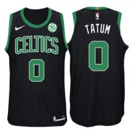 Camiseta Jayson Tatum #0 Boston Celtics 17/18 Negro