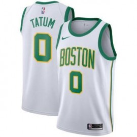 Camiseta Jayson Tatum #0 Boston Celtics 18/19 Blanco City Edition