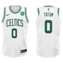 Camiseta Jayson Tatum #0 Boston Celtics 17/18 Blanco