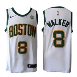 Camiseta Kemba Walker #8 Boston Celtics 17/18 Blanco City Edition