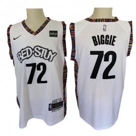 Camiseta Biggie #72 Brooklyn Nets Blanco City Musical Edition