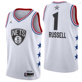 Camiseta D'Angelo Russell #1 Brooklyn Nets 18/19 Blanco
