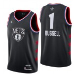 Camiseta D'Angelo Russell #1 Brooklyn Nets 18/19 Negro