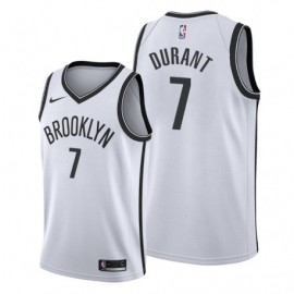 Camiseta Kevin Durant #7 Brooklyn Nets 19/20 Blanco Association Edition