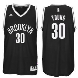 Camiseta Thaddeus Young #30 Brooklyn Nets 18/19 Negro
