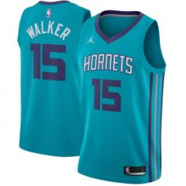 Camiseta Kemba Walker #15 Charlotte Hornets 18/19 Azul Icon Edition