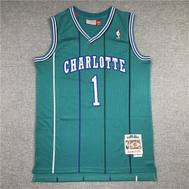 Camiseta Muggsy Bogues #1 Charlotte Hornets 92/93 Verde Classic Edition