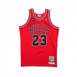 Camiseta Michael Jordan #23 Chicago Bulls 97/98 Rojo Mitchell & Ness Champion Edition
