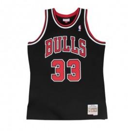Camiseta Scottie Pippen #33 Chicago Bulls Negro Mitchell & Ness Edition