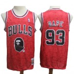 Camiseta #93 Chicago Bulls Rojo BAPE Edition