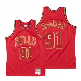 Camiseta Dennis Rodman #91 Chicago Bulls Rojo Limited Edition