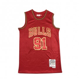 Camiseta Dennis Rodman #91 Chicago Bulls Rojo Mouse Limited Edition
