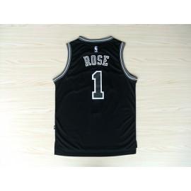 Camiseta Derrick Rose #1 Chicago Bulls Negro