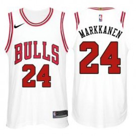 Camiseta Lauri Markkanen #24 Chicago Bulls 17/18 Blanco
