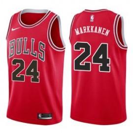 Camiseta Lauri Markkanen #24 Chicago Bulls 17/18 Rojo Icon Edition