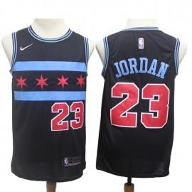 Camiseta Michael Jordan #23 Chicago Bulls 18/19 Negro City Edition