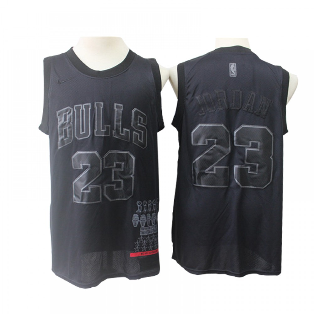 Camiseta Michael Jordan #23 Chicago Bulls 2019 Negro MVP Edition