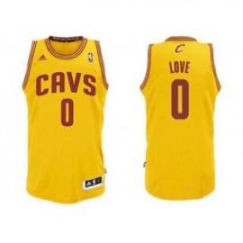 Camiseta Kevin Love #0 Cleveland Cavaliers 17/18 Amarillo
